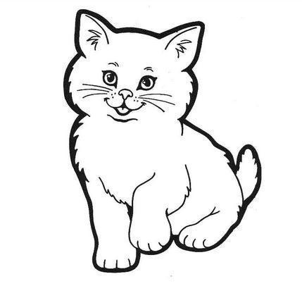 猫咪图片卡通简笔画