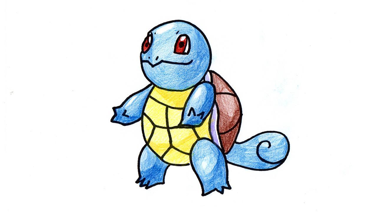 杰尼龟简笔画 我的世界宠物精灵