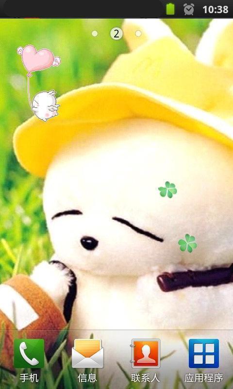 有趣经典的流氓兔,如一团棉花糖,圆手圆脚,胖而可爱.