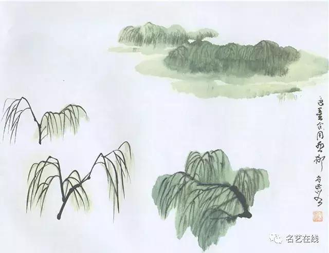 柳树不同季节的画法