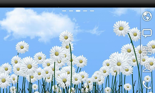 雏菊免费动态壁纸  Minimum battery usage Android Wax (Make Your Device Shine) http://www.androidwax.com DAISIES从Android WAX 访问我们的移动网站,让你的手机闪耀 按这里 - 的> http://www.androidwax.com - 这个免费版本的功能有限。 带来新鲜度,简单,和平与安宁到您的设备与我们的高级雏菊生活壁纸。风轻轻移动,或在主屏幕上滚动着鲜花,照亮你的设备。一种现实感与日同步设置的