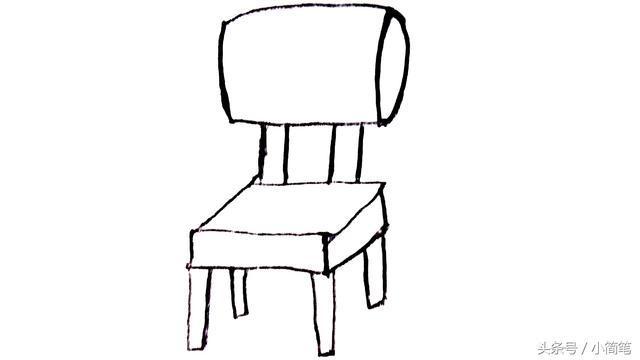 育儿简笔画 只需几步 画一把椅子就是这么简单