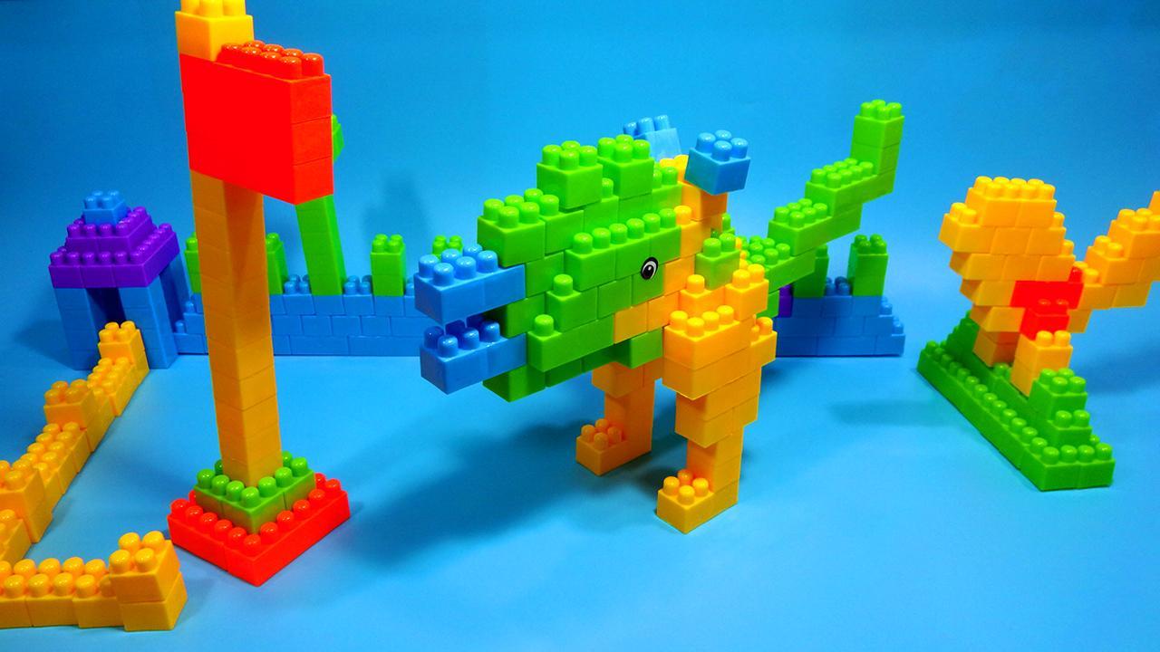 侏罗纪积木恐龙玩具视频 儿童益智玩具亲子过家家游戏