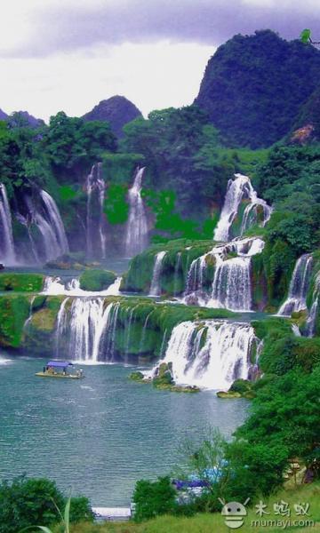 壁纸 风景 旅游 瀑布 山水 桌面 360_600 竖版 竖屏 手机