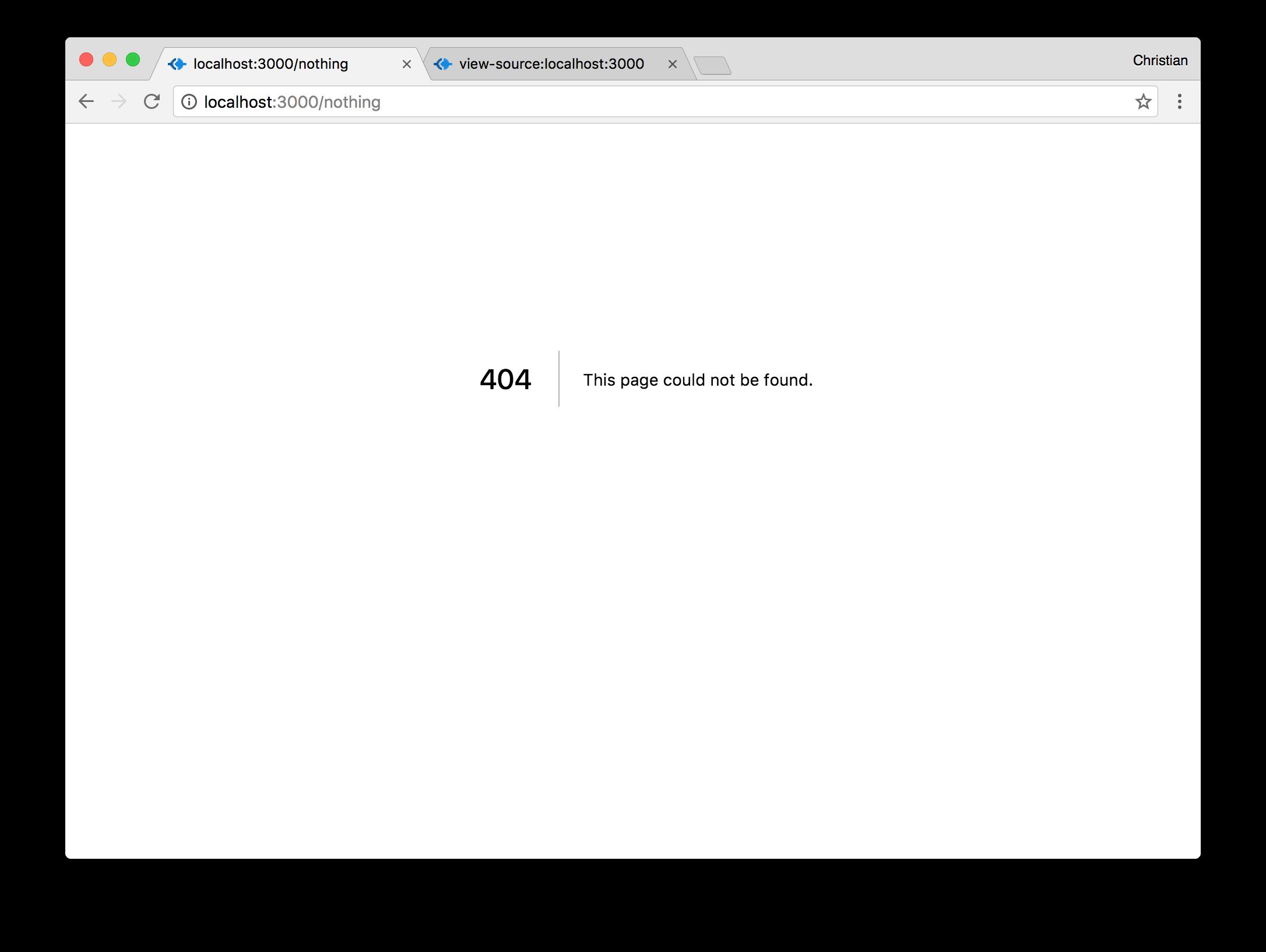 React Universal 404