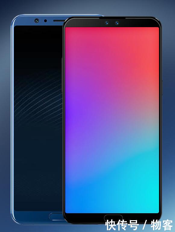 正面指纹的概念版魅族 15,屏幕边框对比荣耀v10, 概念版魅族 15的