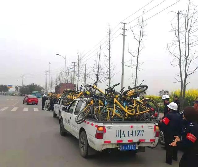 """成都青白江:清理""""僵尸单车""""300余辆"""