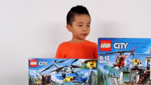 小宝宝自己组装了一个超复杂的乐高城市玩具,太厉害了