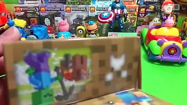 乐高积木我的世界积木玩具小猪佩奇熊出没[精彩视