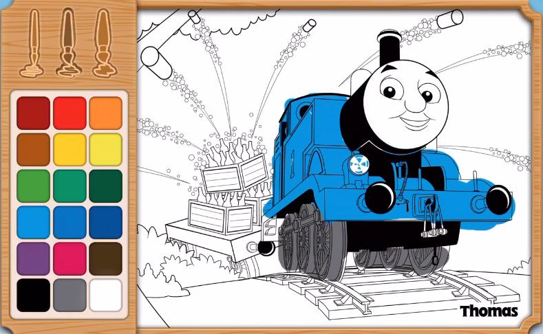 托马斯小火车智力拼图 亲子画画小游戏 托马斯和他的朋友们-儿童.