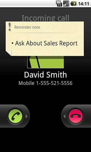 《 通话提醒笔记 Call Reminder Notes 》截图欣赏