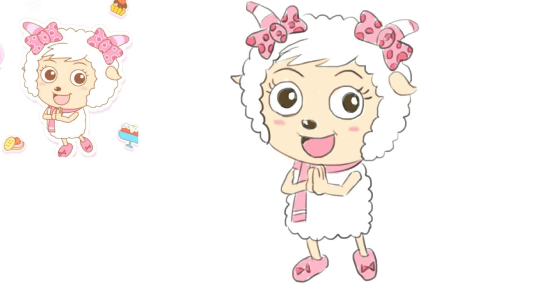 《喜羊羊与灰太狼》中的美羊羊卡通形象绘画教程