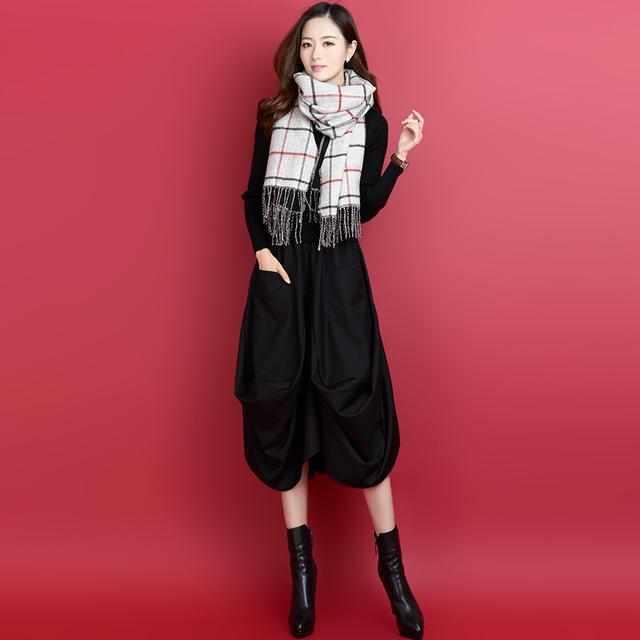打底毛衣裙是秋冬季修身技师,必备优雅,保暖大劲糖跳情趣衣物图片