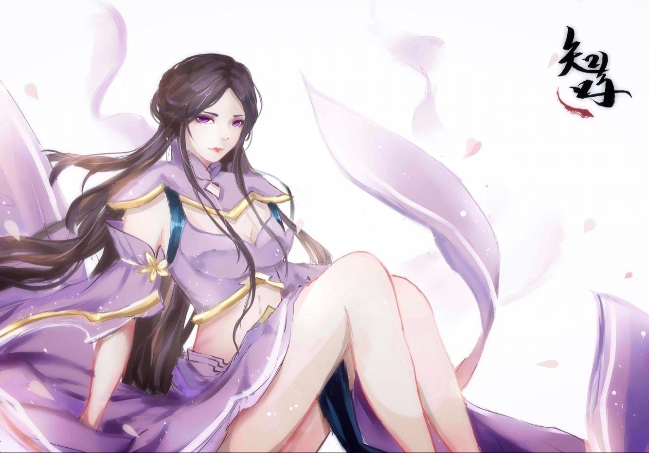 王者荣耀露娜壁纸同人绘画欣赏 可爱小姐姐