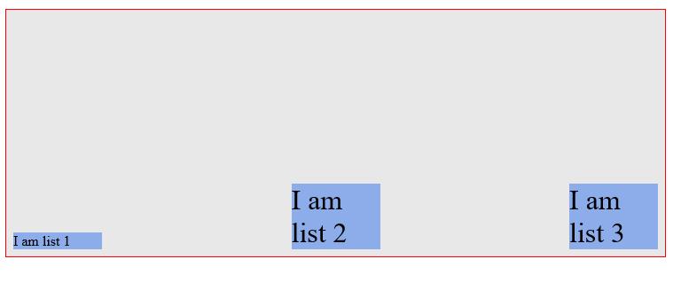 align-items: flex-end