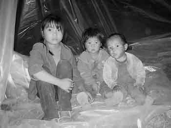 (图)灾区儿童