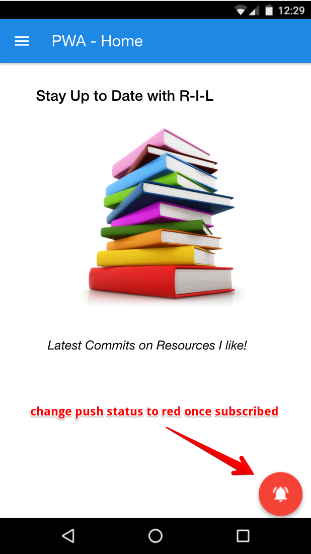 Change Push Status to red