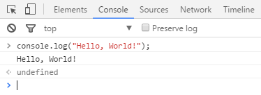 Console Log Output in Google Chrome