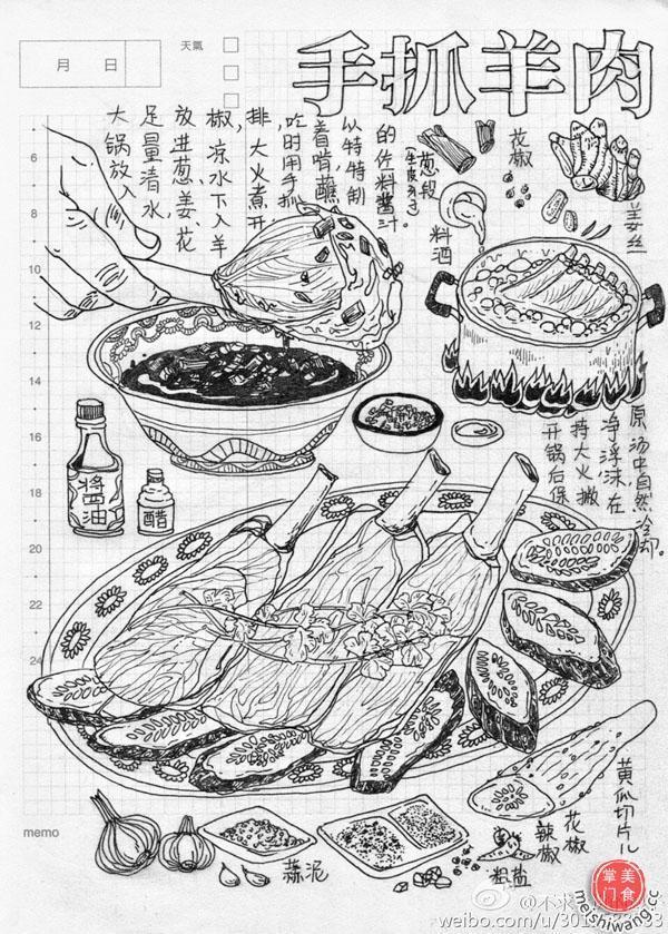 浙江90后女孩手绘青海美食在网上疯转-北京时间