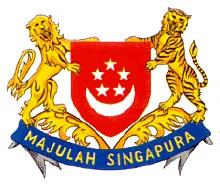 国徽:新加坡国徽是以国旗图案为基础设计的,中心是红色盾徽,一 轮上弯图片