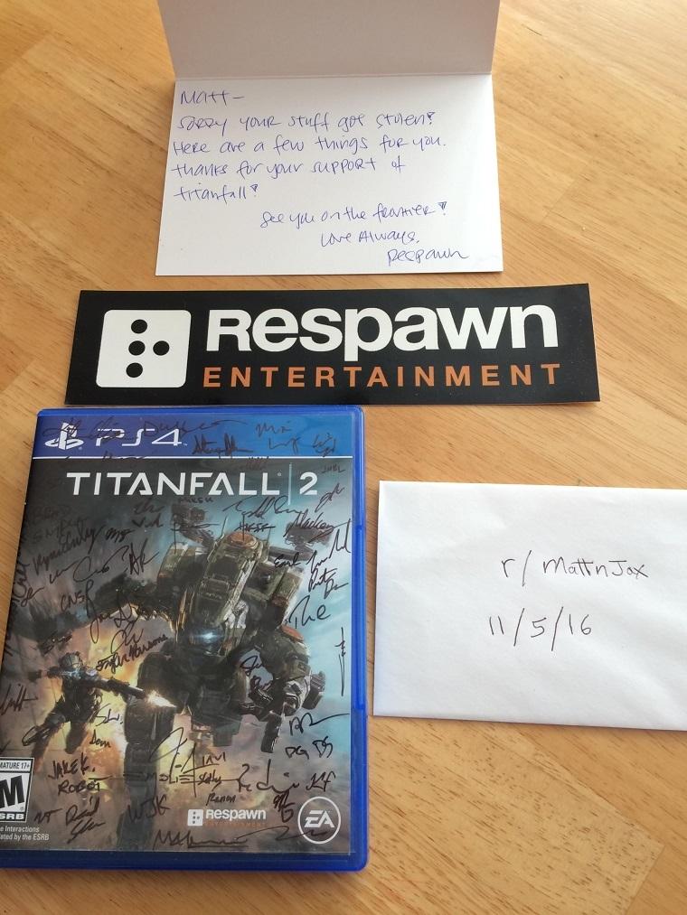 Respawn赠送的游戏
