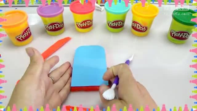 小猪佩奇中文版 佩佩猪动画片 培乐多水晶黏土彩泥冰淇淋制作 熊.