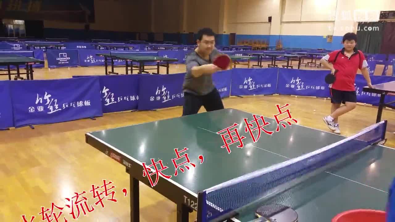 《乒乓球技术训练》正手拉球+反手弹击强下旋球+反手