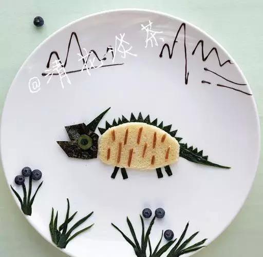 儿童树叶粘贴画图片恐龙