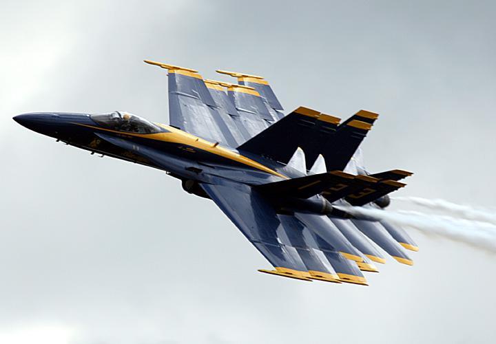 """美国海军""""蓝天使""""飞行表演队是目前世界上唯一的"""