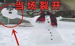 你管这叫雪人?!我裂开!!!
