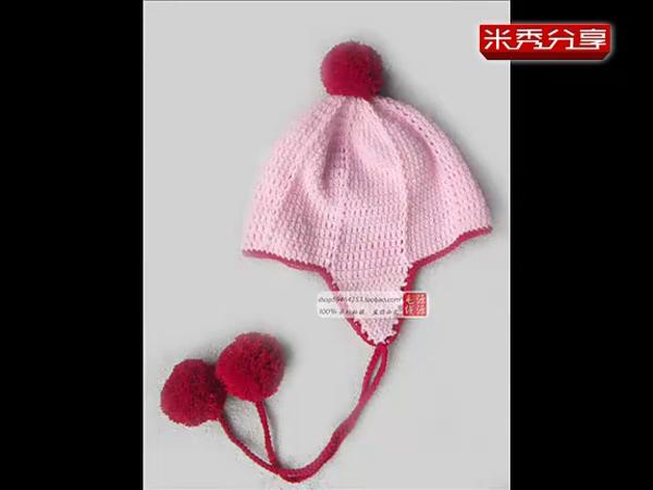 宝宝帽子编织教程 护耳帽的钩法视频