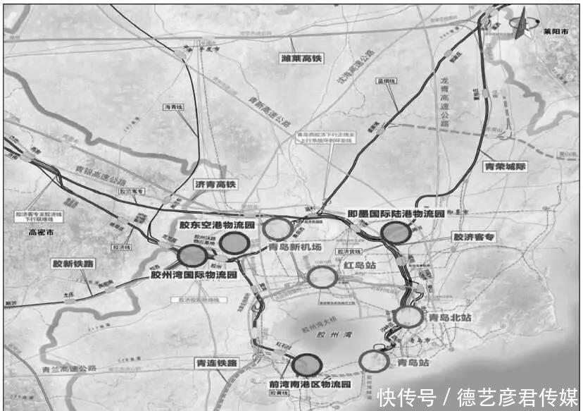 规划形成青岛新机场,红岛站,青岛北站, 青岛站,青岛西站5个综合客运