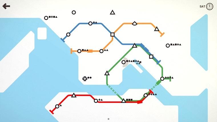 《迷你地铁》游戏截图
