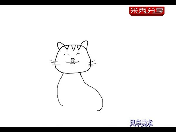 儿童简笔画教程 小猫的画法