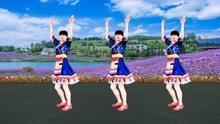 广场舞《太阳姑娘》简单又欢乐,美美的背面时尚示范带你跳