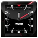 Blood Red HD Analog Clock LWP