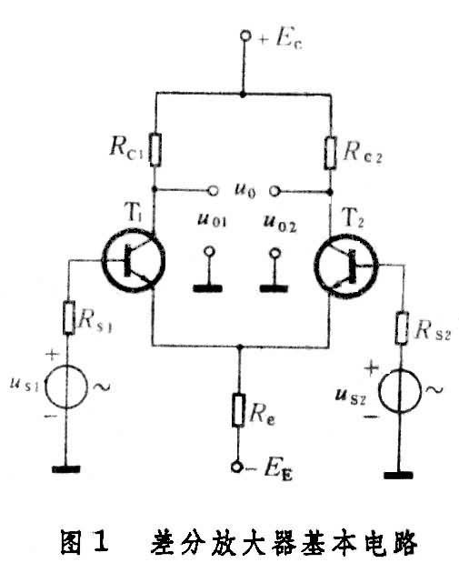 图1是晶体管差分放大器的基本电路