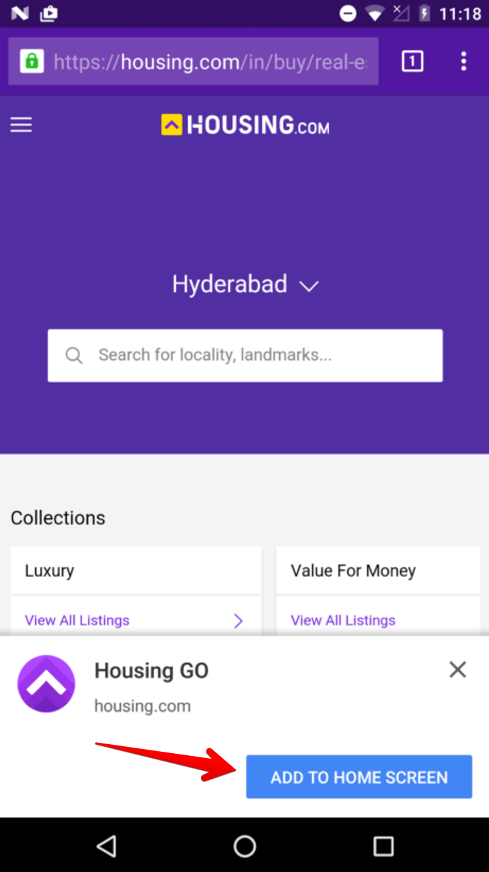 Housing Homescreen