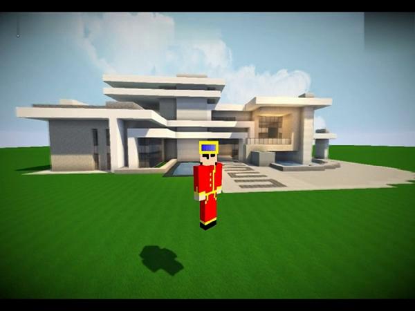 我的世界别墅教程视频 建筑展示现代别墅内饰设计交流【maxkim】