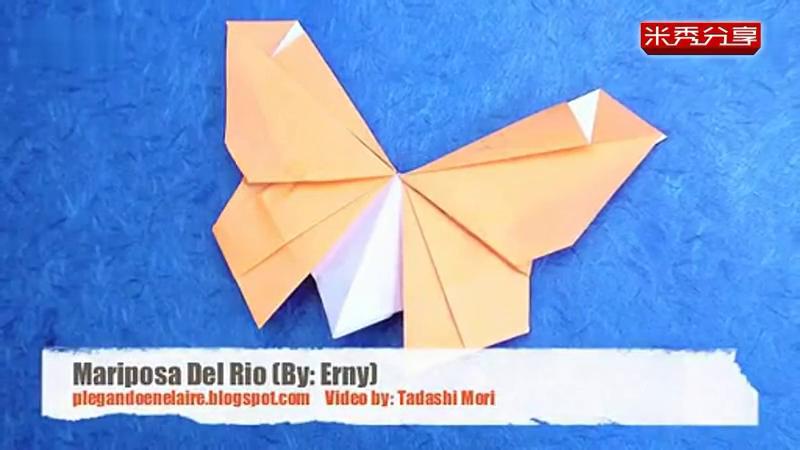 手工制作简易蝴蝶 折纸视频教程