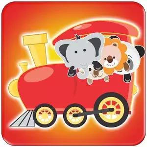 动物列车的儿童游戏是一个限时配对游戏三种动物的脸卡