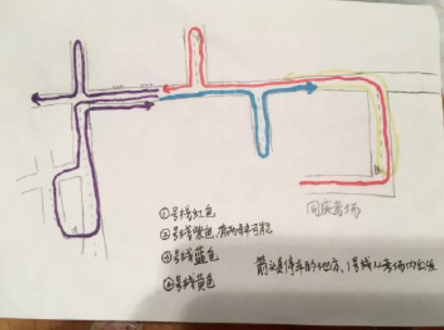小学生手绘长征路线