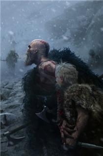 《战神4》多幅全新原画公...