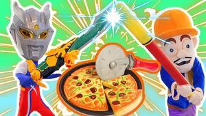 奥特曼恐龙梦想三国披萨食玩