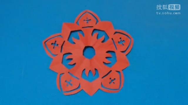窗花五瓣花11 儿童剪纸教程视频大全