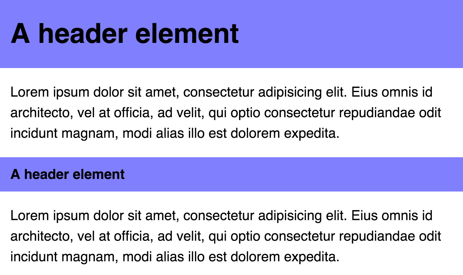 Header has relationships with other elements