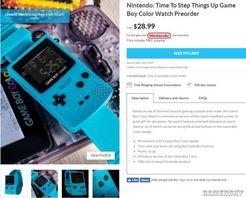 Game Boy Color掌机推出手表周边 造型经典、售价约200元