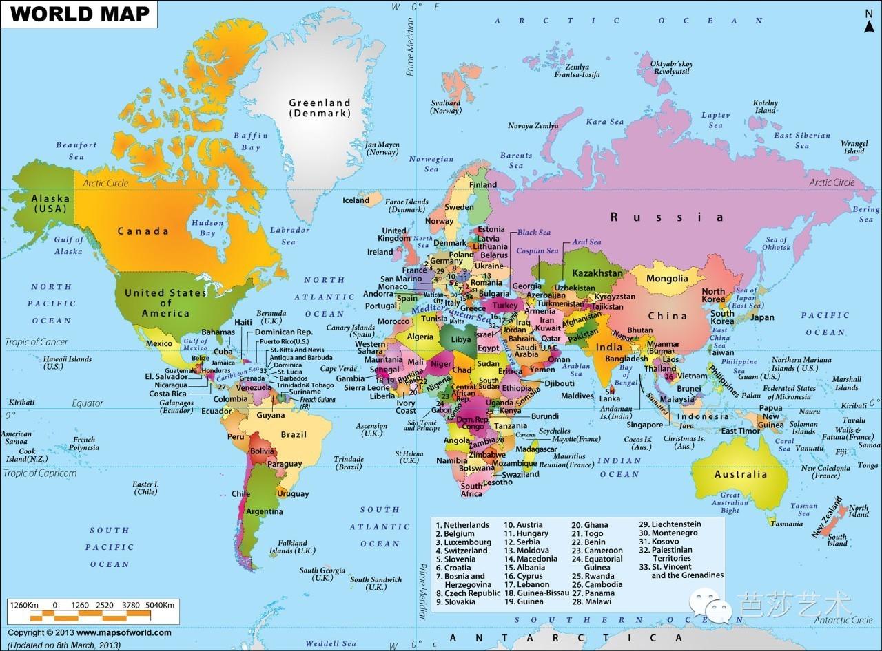 世界地图居然可以这么美?-北京时间