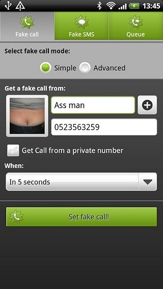 《 BOOM! Fake call and SMS Lite 》截图欣赏