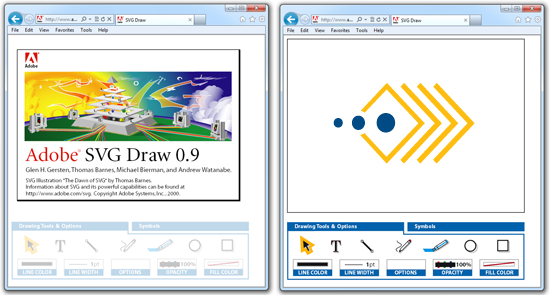 Early SVG drawing application